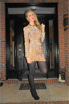 gold Motel Rocks dress - black Target tights