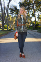 olive green camo Old Navy jacket - navy Joes Jeans jeans