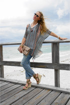 teal tunic Blue Plate top - sky blue BLANKNYC jeans