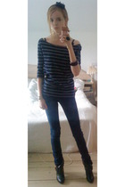 GINA TRICOT blouse - GINA TRICOT jeans - vagabond boots - pieces accessories