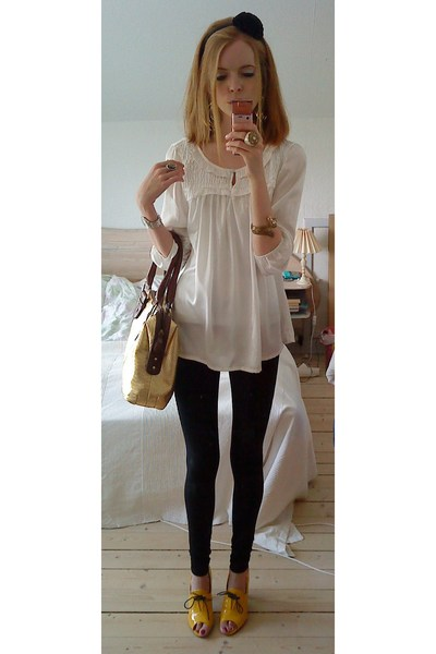 Vila blouse - Only leggings - Bianco shoes