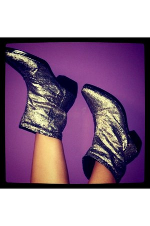 glitter DIY boots