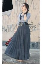 christian dior sunglasses - charcoal gray Zara skirt