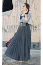 Christian-dior-sunglasses-charcoal-gray-zara-skirt