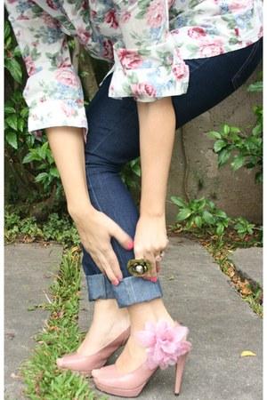 light pink Pink &Co shirt - navy Renner jeans
