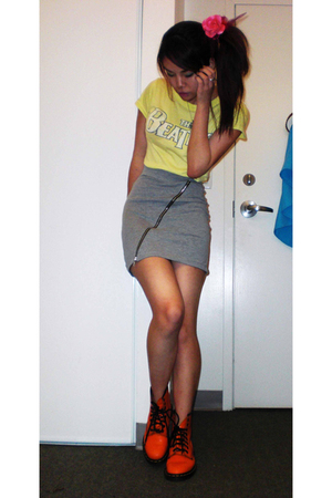 The Beatles t-shirt - H&amp;M skirt - doc martens shoes - ardenes accessories