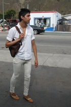 white urban outfitters shirt - Forever 21 pants - brown Urban Outfitters