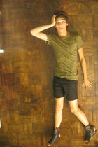 green DIY Laurel accessories - green Urban Outfitters shirt - black DIY shorts -