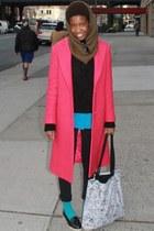 DKNY coat - Forever 21 jeans - DKNY sweater - DKNY shirt - H&M scarf