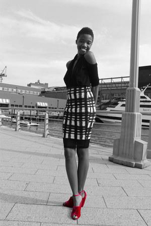 DKNY top - asos skirt - asos heels