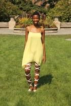 yellow BCBGeneration dress