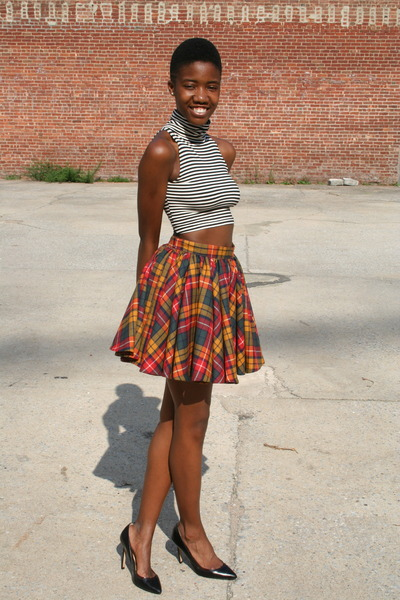wool DIY skirt - Zara heels