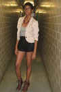 Beige-h-m-blazer-red-h-m-necklace-black-forever-21-shorts-brown-steve-madd