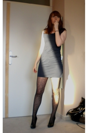 H&M Trend dress -  tights - H&M shoes