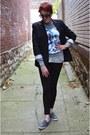 Black-zara-leggings-black-banana-republic-blazer