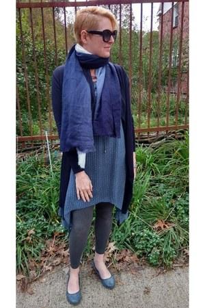 ivory ombre Le Tote scarf - blue shift Le Tote dress