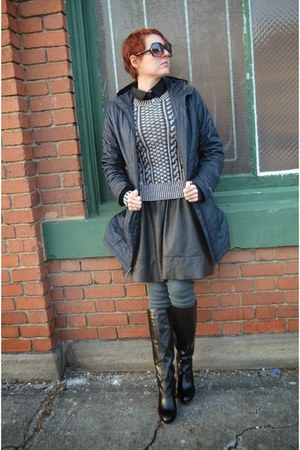 black leather Search for Sanity skirt - black Nine West boots