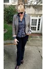 Maroon-chelsea-zara-boots-heather-gray-tweed-jcrew-blazer