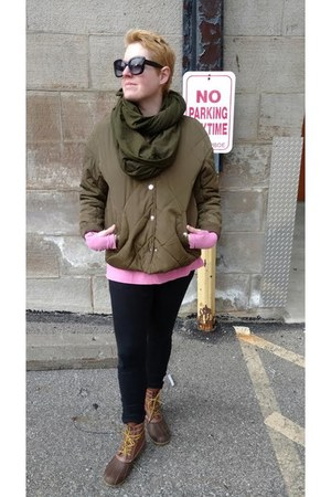 bubble gum Le Tote sweater - army green utility H&M jacket