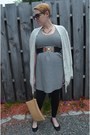 Cream-striped-jcrew-dress-black-maternity-target-leggings