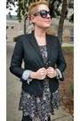 Black-printed-old-navy-dress-black-gap-blazer