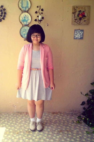 Topshop blazer - miss whatever shoes - cotton on dress - Daiso socks