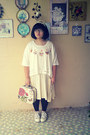 Beige-topshop-shoes-cream-uniqlo-dress-coral-lovely-lace-bag