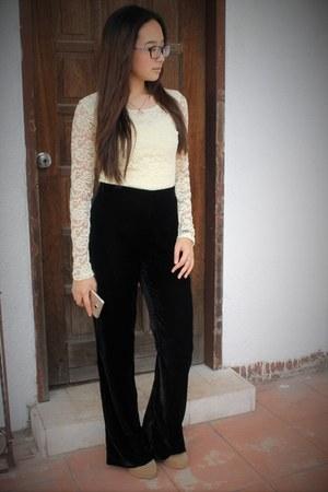 velvet H&M pants