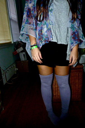 American Apparel socks - American Apparel skirt - Topshop cape - loose light one