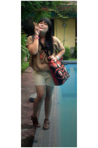 from Bali shirt - calvin klein pants - in her shoes boots - from Bali accessorie
