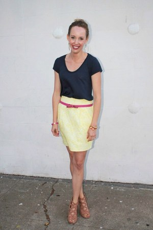 JCrew belt - storets skirt - Splendid t-shirt