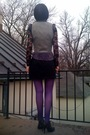 Black-forever21-blouse-purple-walmart-blouse-gray-vintage-vest-black-targe