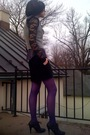 Black-forever21-blouse-purple-walmart-blouse-gray-vintage-vest-black-targe