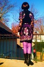 Black-forever21-blouse-purple-mango-dress-black-target-vest-purple-forever