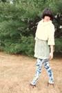 Beige-forever21-coat-green-forever21-blouse-blue-forever21-jeans-brown-goj