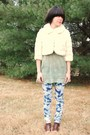 Beige-forever21-coat-green-forever21-blouse-blue-forever21-jeans-brown-goj