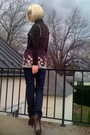 Brown-target-top-brown-forever21-shirt-blue-h-m-jeans-brown-gojane-boots-