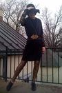 Black-h-m-dress-black-forever21-hat-black-forever21-shirt-gold-forever21-b