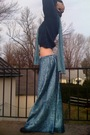 Blue-vintage-sweater-blue-vintage-skirt-black-forever21-boots-blue-walmart