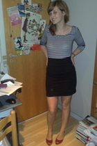 H&M top - H&M skirt - Bianco shoes