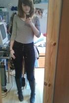 Vero Moda pants - H&M shirt - Kvickly boots - accessories