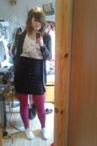 H&M skirt - H&M t-shirt - H&M tights - H&M accessories - Only shirt - Striipe sh
