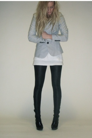 blazer - pants - shoes - t-shirt