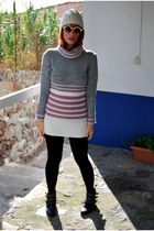 wool marlen sweater - ankle boots Migato boots - beanies new look hat