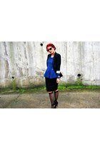 blazer Zara blazer - peplum Bellino top - below the knee Bellino skirt