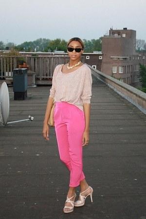 Prada bag - Bershka top - Primark pants - Nine West sandals - vintage necklace
