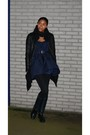 Navy-pepe-jeans-london-dress-black-zara-leggings-navy-zara-boots-black-unk