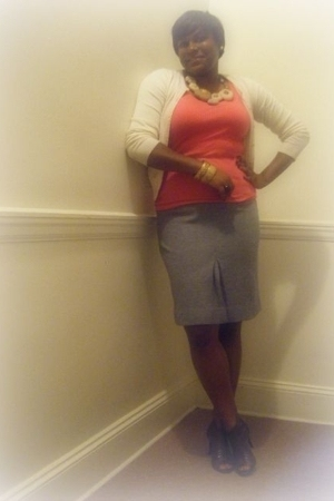 H&M sweater - Old Navy shirt - Vintage thrift skirt - Forever21 shoes