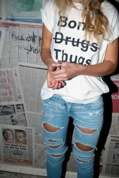 I heard they eat cigaretts jeans - jacket
