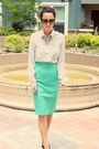 Gucci-sunglasses-pigalle-christian-louboutin-heels-pencil-skirt-zara-skirt
